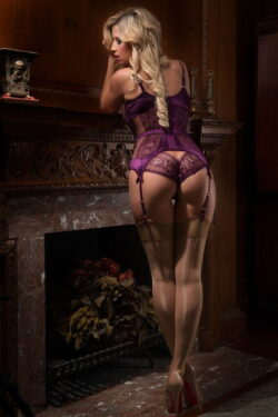 dominatrix panties and silk slip lingerie
