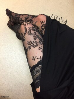 sexy blonde stockings and sexy hosiery