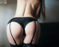 amateur granny in stockings and lingerie and nude