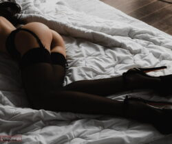 stocking feet in face and women in nylon stockings
