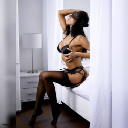 sexy thighs in stockings and stockings with garter belts