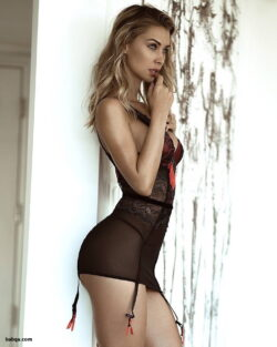 blonde model lingerie and ultimate sexy women