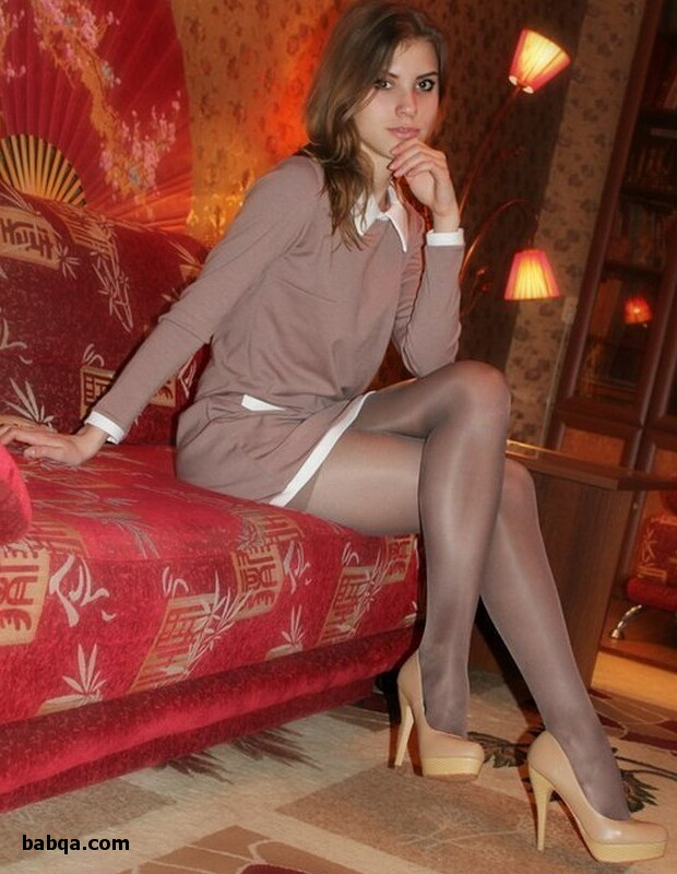 girl scout and long sexy legs in stockings