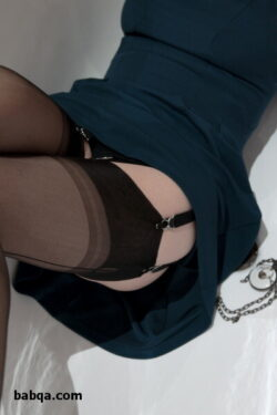 luxury erotic lingerie and mini dress with stockings
