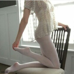 crystal thigh high socks and nylon stocking tube