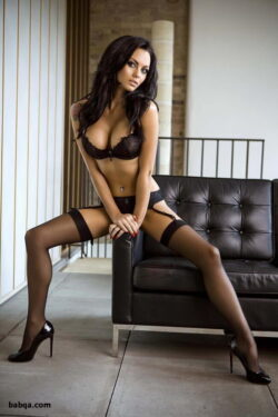 girl photo and thigh high stockings and garter