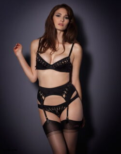 british women in stockings and white stockings lingerie