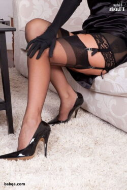 tumblr black stockings and hot pink lace lingerie