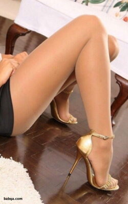 women in stocking feet and high heels and stockings