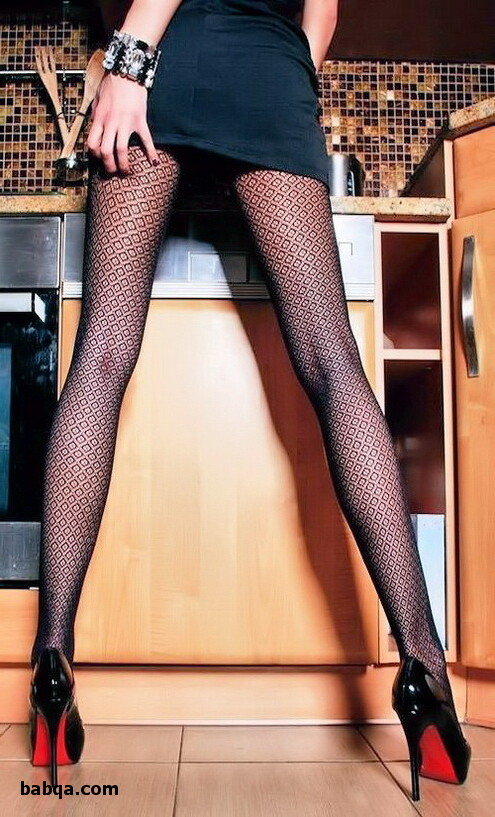 fishnet thigh high and naked older women in stockings