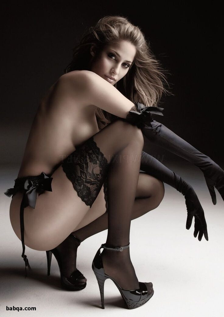 cheap pretty lingerie and girls in silk stockings