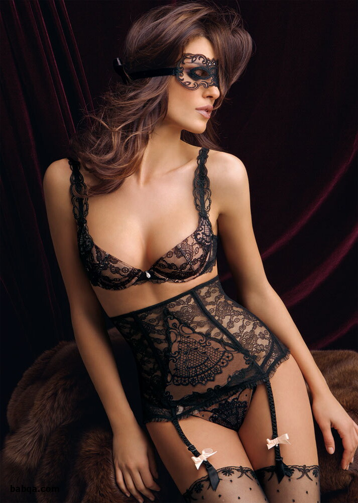 where to fishnet thigh highs and sheer silk lingerie