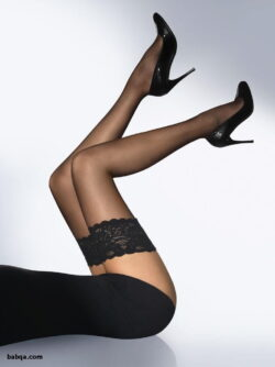 stockings and suspenders mature and opaque thigh highs