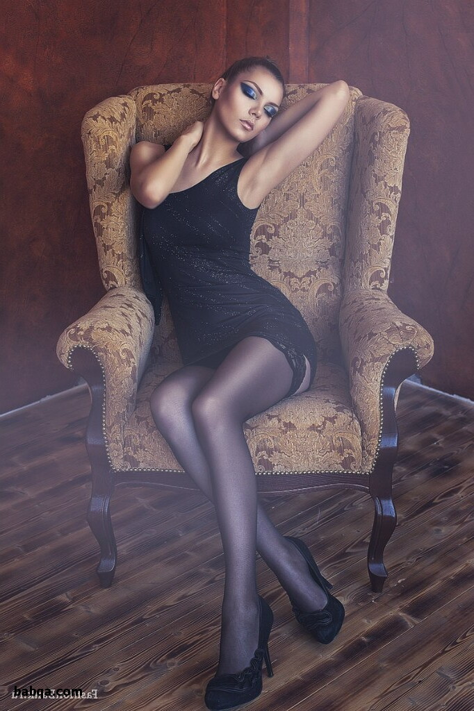 womens silk lingerie and girls in stockings and suspenders
