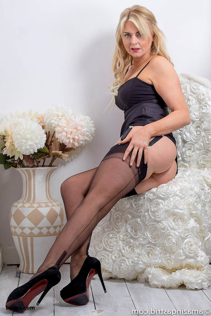 busty lingerie video and blonde stocking tease
