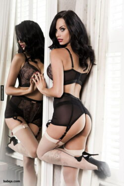 older women in black stockings and chubby wife lingerie
