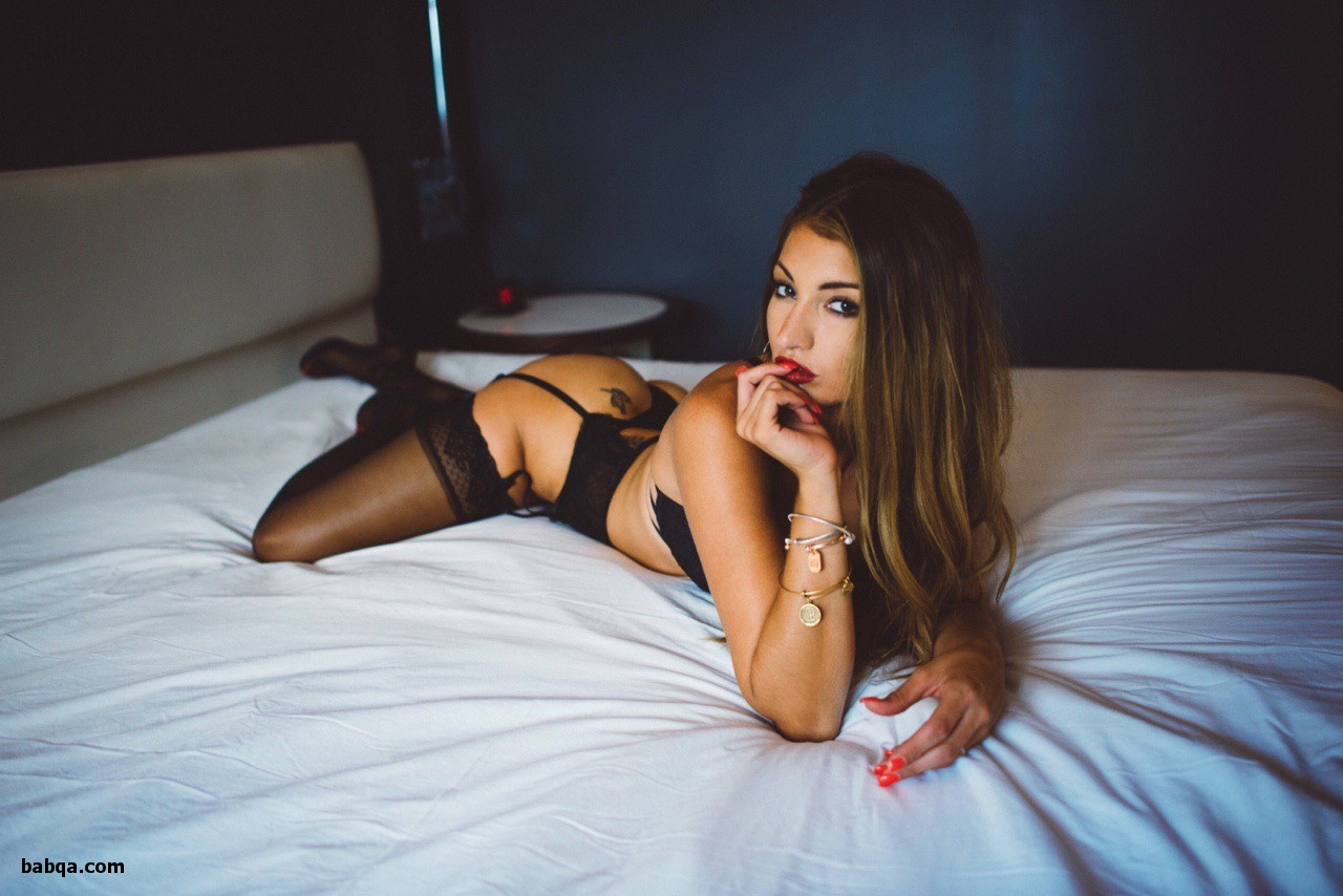 nude lingerie photos and navy blue thigh high stockings