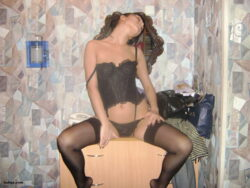 leather underwear womens and naked stockings