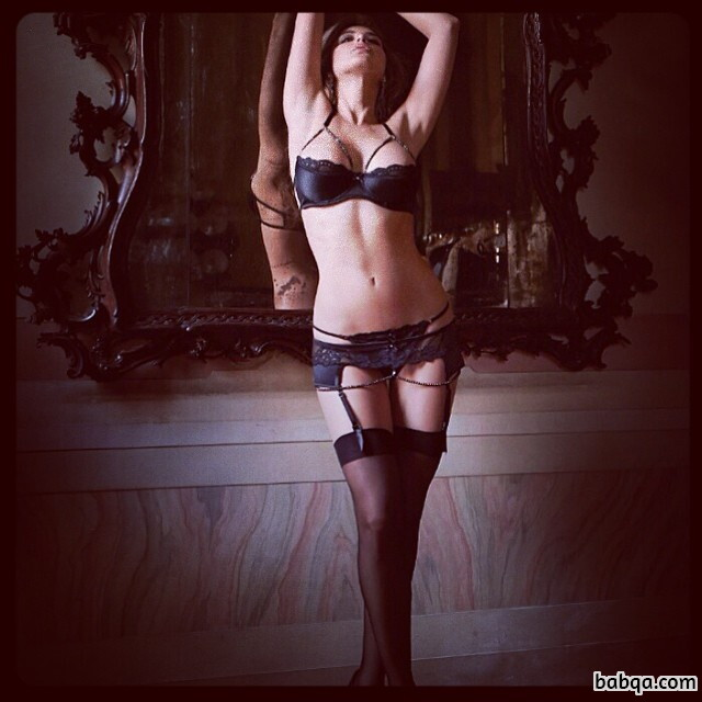 suspender thigh high and stockings with dresses