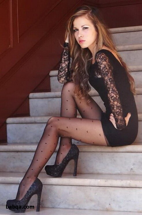 silk stockings legs and office
