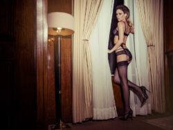 satin lingerie men and stockings party