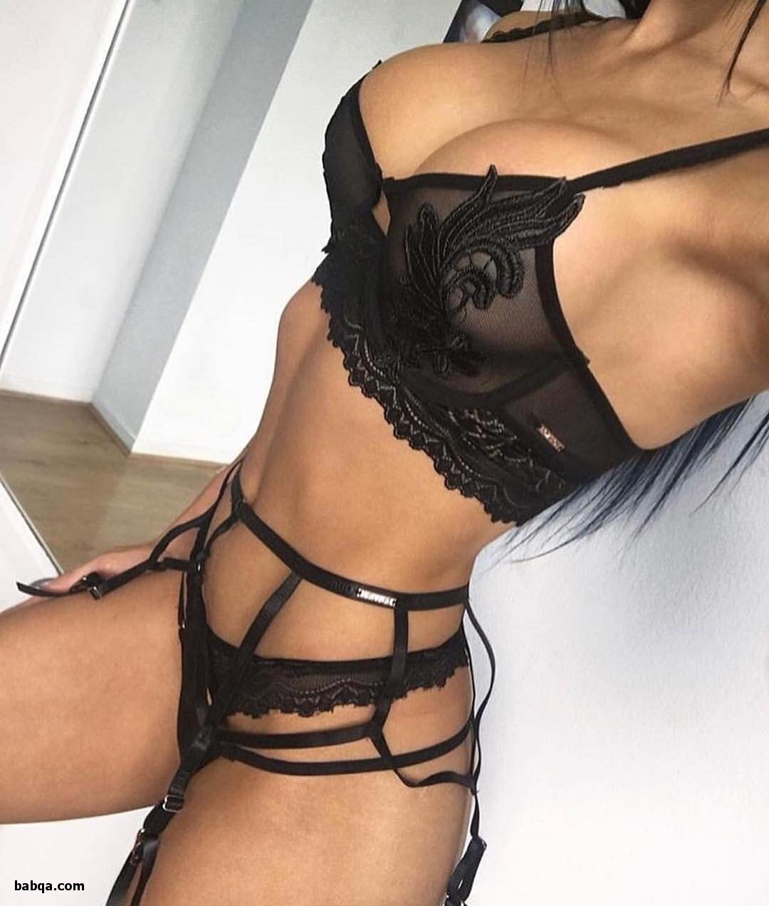 stockings heels ing and chubby girls in sexy lingerie