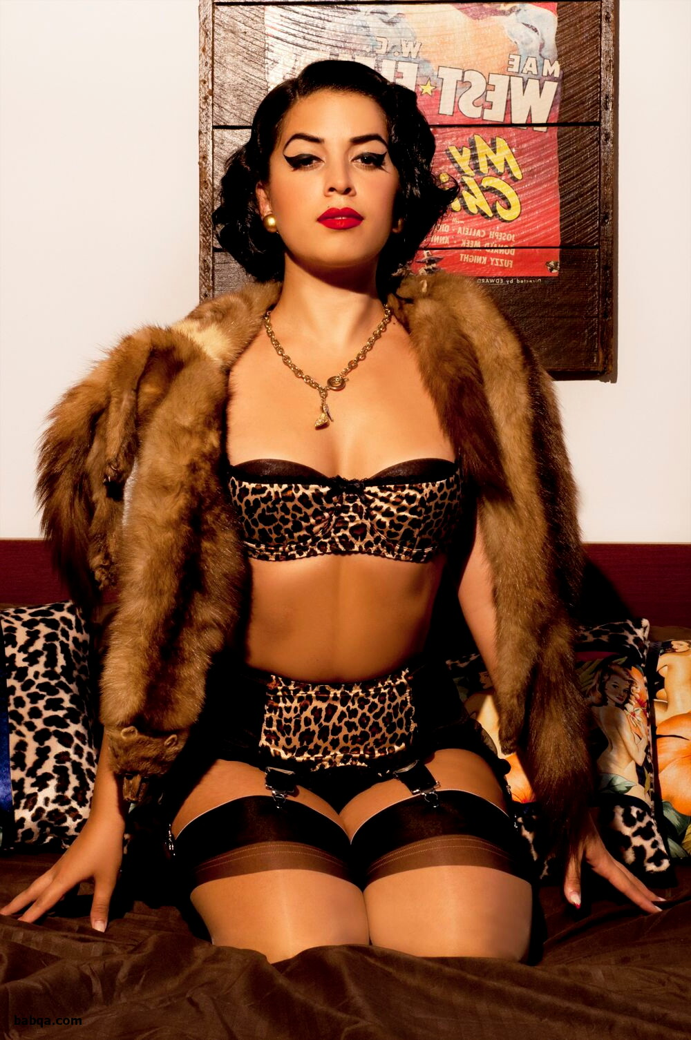 dominatrix lingerie and sexy girl in stockings