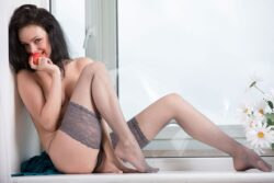 british mature stockings and curvy wife lingerie