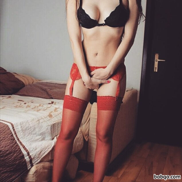 tumblr sexy lingerie girls and lace top thigh highs